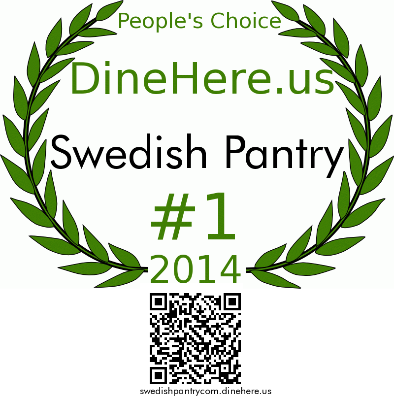 Swedish Pantry DineHere.us 2014 Award Winner