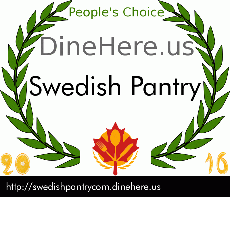 Swedish Pantry DineHere.us 2016 Award Winner